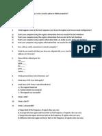 Test Paper I