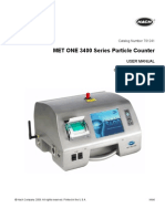 MET ONE 3400 Particle Counter User Manual