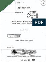 Wound Ballistics Research of the Past Twenty Years