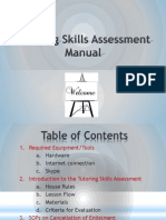 Rarejob Training Skill Assessment FAQs