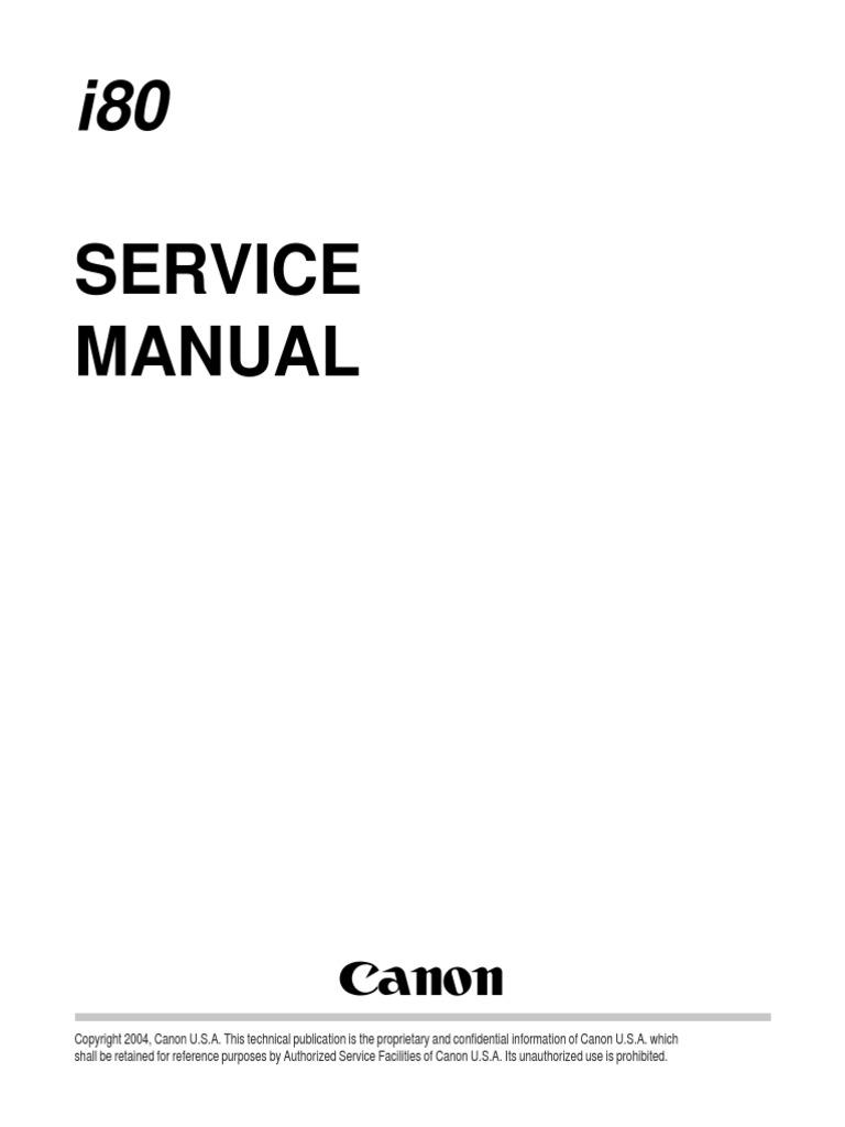 canon pixma i80 service manual pdf bluetooth personal digital rh scribd com canon i80 service manual service manual canon ipf 6400