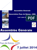 Presentation AG 2014 Association Pays de Roissy-CDG