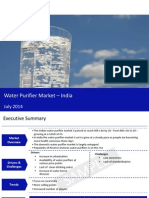 Market Research Report :Water purifier market in india 2014 - Sample