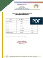 Siarczan żelaza (II) siedmiowodny - Ferrous sulphate heptahydrate - CHEMIGLOB.COM - Karta charakterystyki