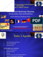 international marketing planning dr said el mansour cherkaoui
