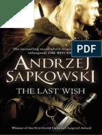The Last Wish by Andrzej Sapkowski Extract