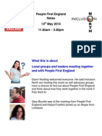 People First England Notes 14th May 2014