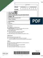Biology Mock Paper IGCSE