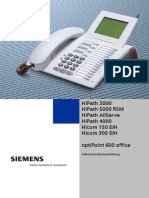 HiPath OptiPoint 600 Office Administrationsanleitung A31003-A2056-B600-4-A9