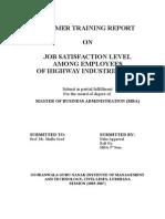 Job Satisfaction Level Among Employees