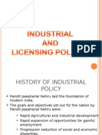 Industrial and Licensing Policies