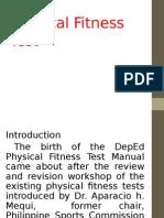 Framework of Physical Fitness Test2