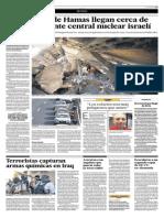 Los Cohetes de Hamas Llegan Cerca de Una Importante Central Nuclear Israelí