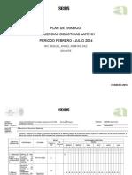 Plan de Trabajo Secuencias Didacticas Febrero-julio 14 Mixtepec