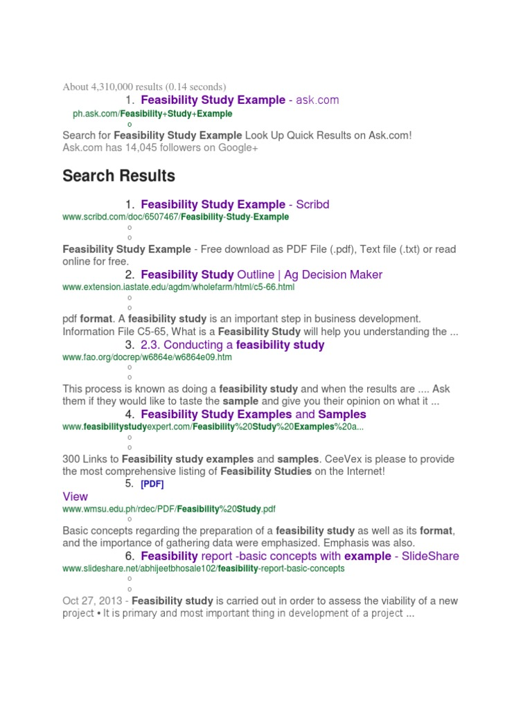 Feasibility feasibility study text file accmission Gallery
