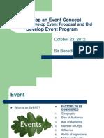 Develop an Event Concept