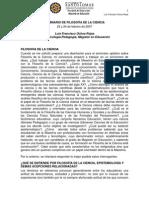 Seminario de Filosofia de La Ciencia Maestria Francisco Ochoa Version 2009-Libre