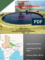 Small Hydro presentation Nepal