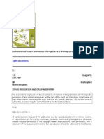 Environmental Impact Assessment of Irrigation and Drainage Projects