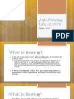 Anti-Fencing Law of 1979