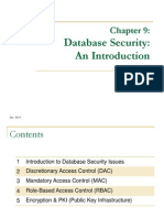 Chapter 9 Database Security