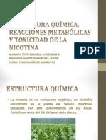 Estructura Química, Reacciones Metabólicas y Toxicidad de Nicotina