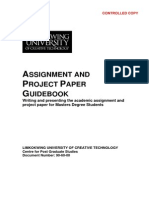 20091225 MBA Project Paper Guidebook Ver 1 5ed