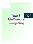 Role of Services in Economy Society