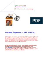 Written Argument - RTI Appeal