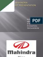 Mahindra Company Presentation