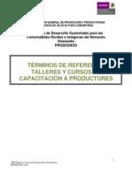 Capacitacion a Productores Talleres y Cursos CONAFOR
