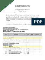 Presupuesto y Cantidades de Obra (Fundacion)