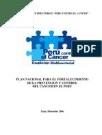 CMPCC Plan Nacional Para Prevencion y Control Del Cancer 2006-2016