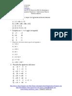 Guía N°1 De Ejercicios PSU De Matemática - Conjuntos Numéricos y Operaciones Básicas