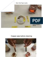 Copper Pipe Test For Silver Recovery
