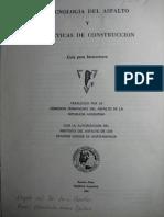 Tecnologia Del Asfalto y Practicas de Construccion - Instituto Del Asfalto