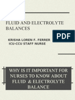 Fluid and Elctrolyte Balance.... Power Point