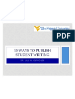 15 ways to publish student writing