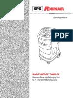 Robinair 34800 2K Operation Manual