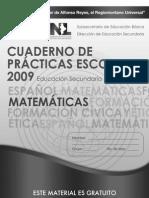 Cuaderno de Prácticas Escolares Matemáticas Secundaria - Monterrey