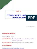 Sesión 12 Costo Directo, Aporte Unitario de Materiales