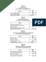 Cedulas Presupuestarias (Ejercisio 1). (2) Completo