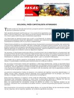 3- Bolivia, pa�s capitalista atrasado