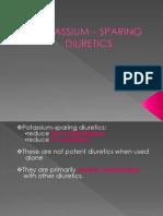 Potassium – Sparing Diuretics