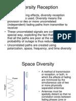 Diversity Reception