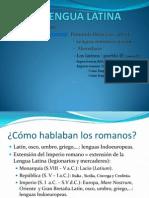 CUC U. 11 La Lengua Latina