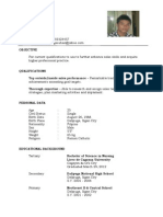 Resume sample format dario