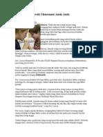 Pantang Menyerah Menemani Anak Autis