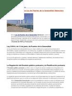 Ley de Puertos de la Generalitat Valenciana