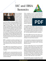 BRIC and IBSA Summits